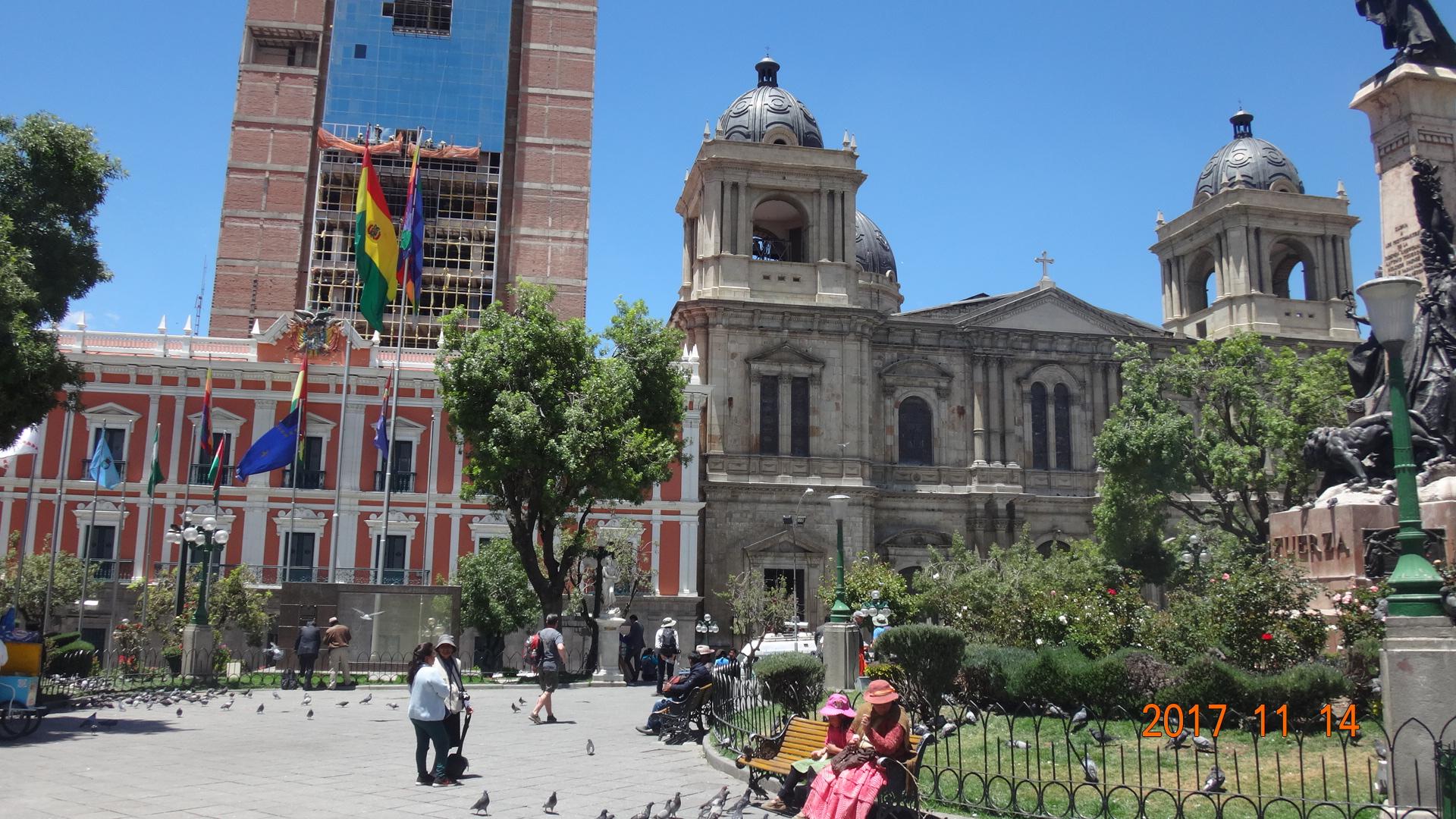La Paz, comme illustration du centrage…