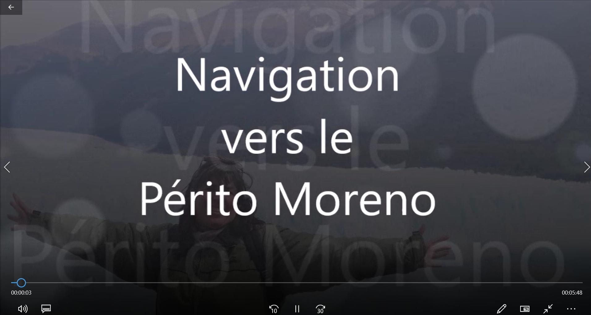 Navigation vers le Périto Moreno