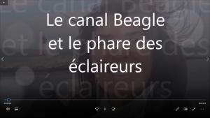 Le canal Beagle et le phare des éclaireurs